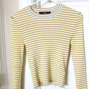 Forever 21 Striped Long Sleeve (Large) NEW!!